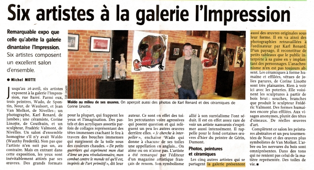 "Vernissage ""Galerie d'Art Impression"" à Dinant"